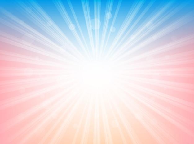 Sfondo astratto blu rosa e bianco linee radiali sfondo