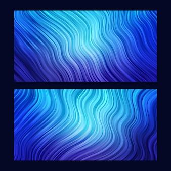 Sfondo astratto. carta da parati a righe. impostato in colore blu