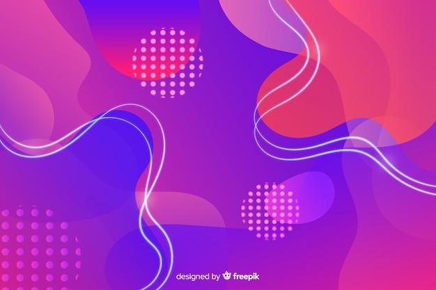 Sfondo astratto colorato forme fluenti