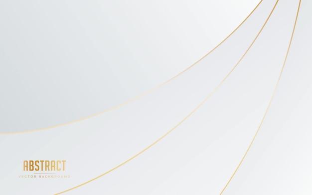 Sfondo astratto colore bianco e grigio con linea colore dorato.
