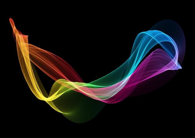 Sfondo astratto con arcobaleno colorato flusso design