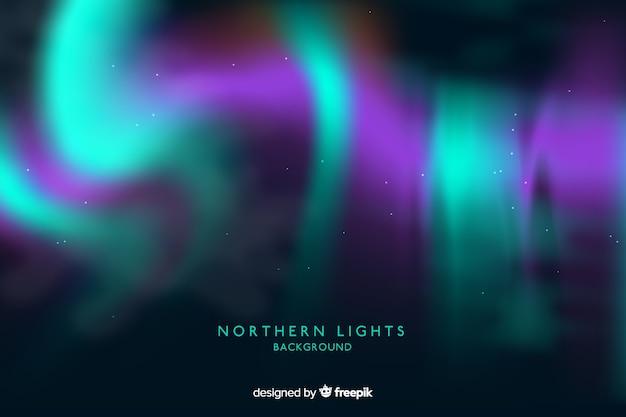 Sfondo astratto con aurora boreale