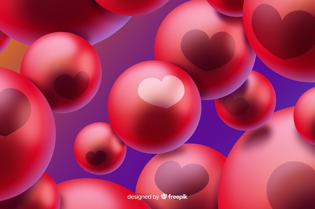 Sfondo astratto con bolle rosse
