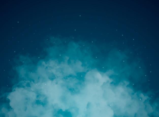 Sfondo astratto con cielo notturno e stelle