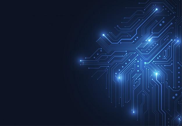 Sfondo astratto con circuito di tecnologia