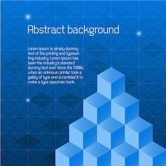 Sfondo astratto con cubi isometrici