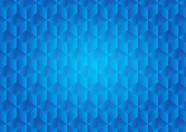 Sfondo astratto con cubo e luce bagliore