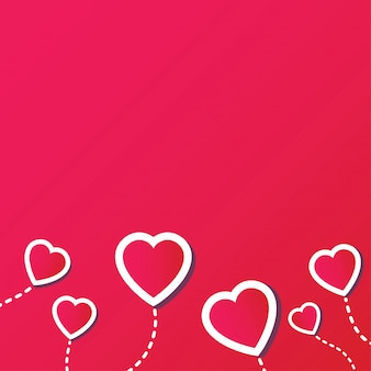 Sfondo astratto con cuore rosso