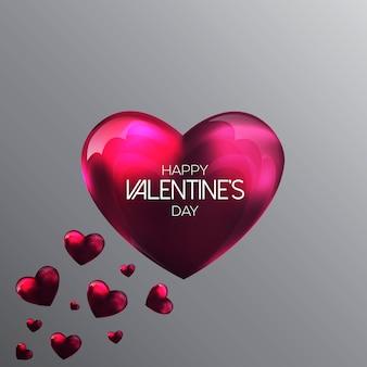 Sfondo astratto con cuori di un san valentino rosa