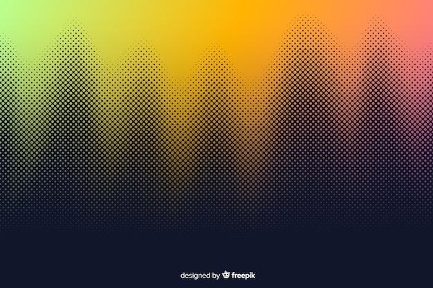 Sfondo astratto con effetto mezzetinte gradiente