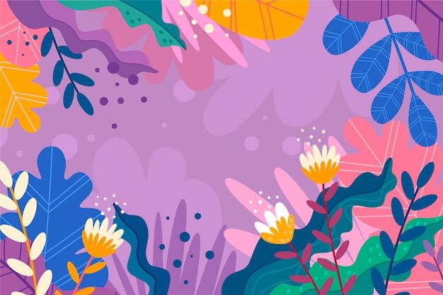 Sfondo astratto con fiori tropicali spazio copia