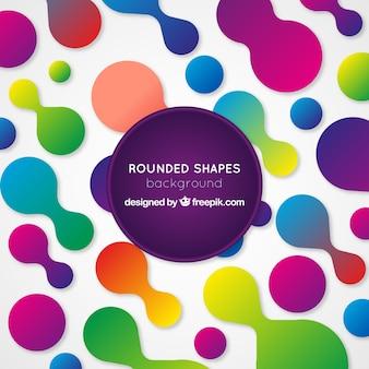 Sfondo astratto con forme arrotondate colorate