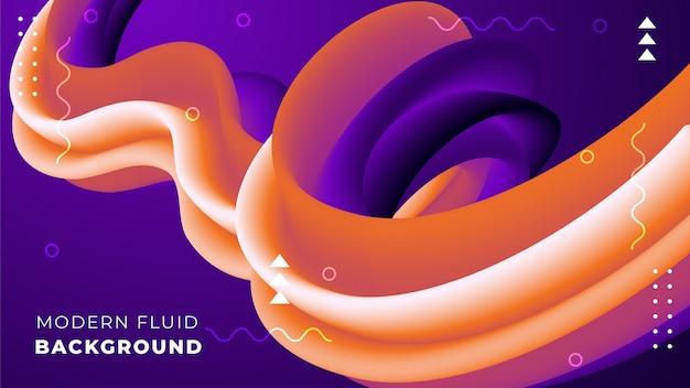 Sfondo astratto con forme fluide 3d