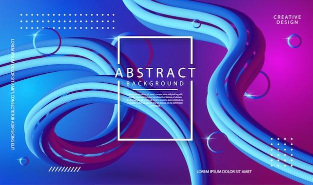 Sfondo astratto con forme fluide viola e blu di colore 3d
