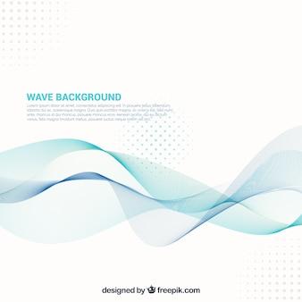 Sfondo astratto con forme ondulate e punti
