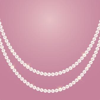 Sfondo astratto con ghirlande di perle naturali di perle. illustrazione vettoriale
