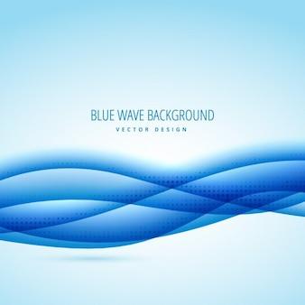 Sfondo astratto con le onde blu