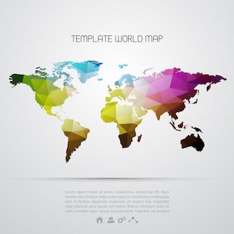 Sfondo astratto con mappa del mondo