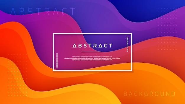 Sfondo astratto con miscelazione di colore viola, blu e arancione.