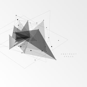 Sfondo astratto con motivo a triangoli. creativo astratto. linee tecnologiche e punti