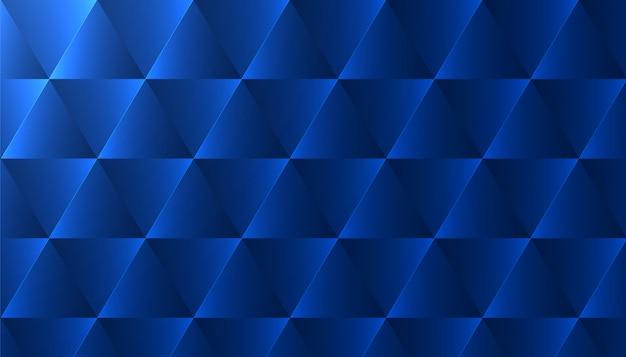 Sfondo astratto con motivo a triangolo blu