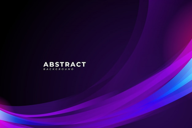 Sfondo astratto con onda viola ed elemento di design fluido per il tuo poster, banner, brochure, landing page.