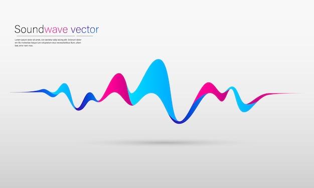 Sfondo astratto con onde colorate dinamiche, linea e particelle