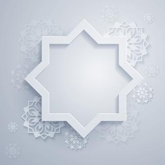 Sfondo astratto con ornamento ottagonale e geometrico