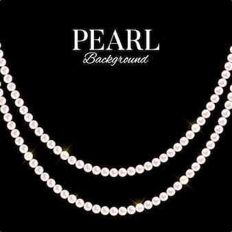 Sfondo astratto con perle naturali