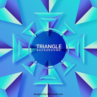 Sfondo astratto con triangoli 3d