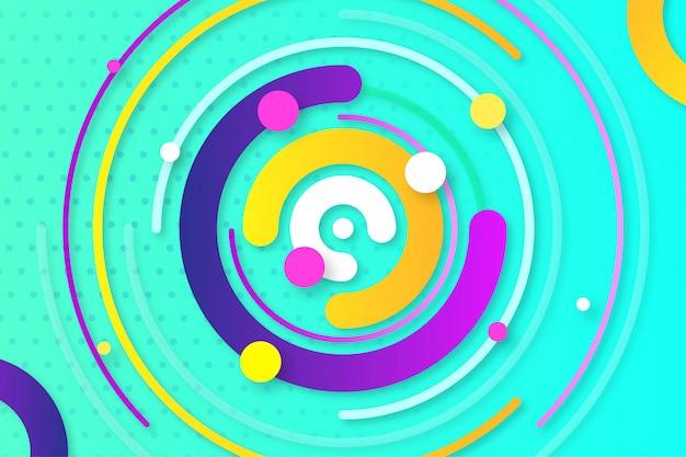 Sfondo astratto creativo movimento colorato