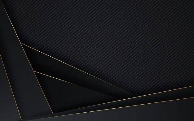 Sfondo astratto design di lusso di colore nero e oro minimal