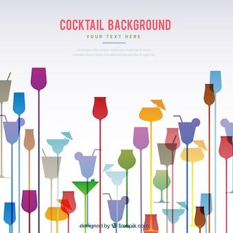 Sfondo astratto di cocktail