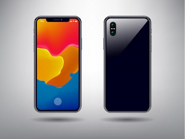 Sfondo astratto di colore completo per modello di telefono intelligente