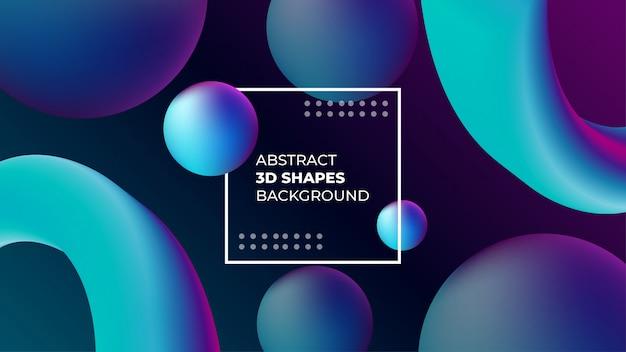 Sfondo astratto di forme 3d