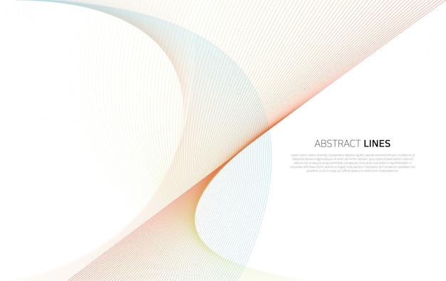 Sfondo astratto di linee di colore di lusso