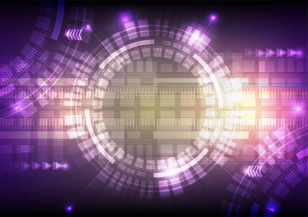 Sfondo astratto di tecnologia digitale. illustrazione vettoriale