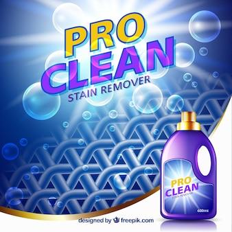 Sfondo astratto di tessuto e bolle con detergente