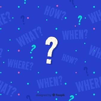 Sfondo astratto domanda