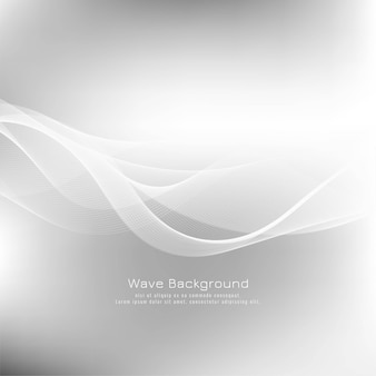 Sfondo astratto elegante onda grigia