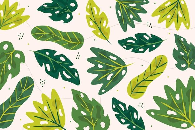 Sfondo astratto foglie tropicali