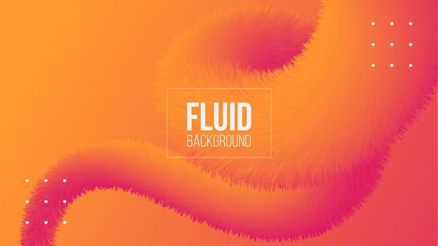 Sfondo astratto forma fluida 3d