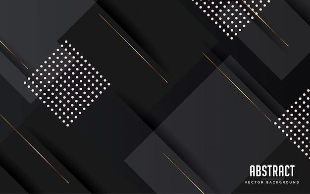Sfondo astratto geometrico design moderno di colore nero e grigio