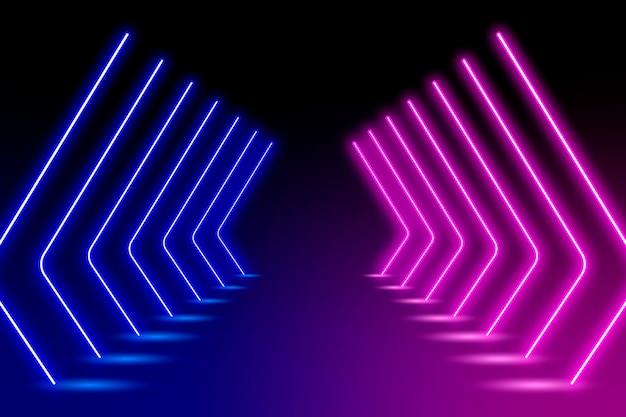 Sfondo astratto luci al neon