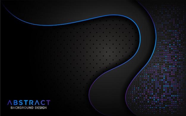 Sfondo astratto moderno con particelle di scintillio aurora