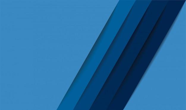 Sfondo astratto moderno linee blu