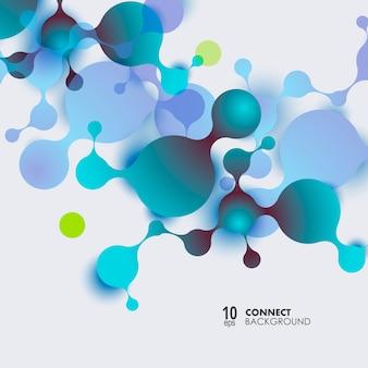 Sfondo astratto molecole con cellule. sfondo medico