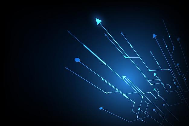 Sfondo astratto mostra l'innovazione della tecnologia e della tecnologia.