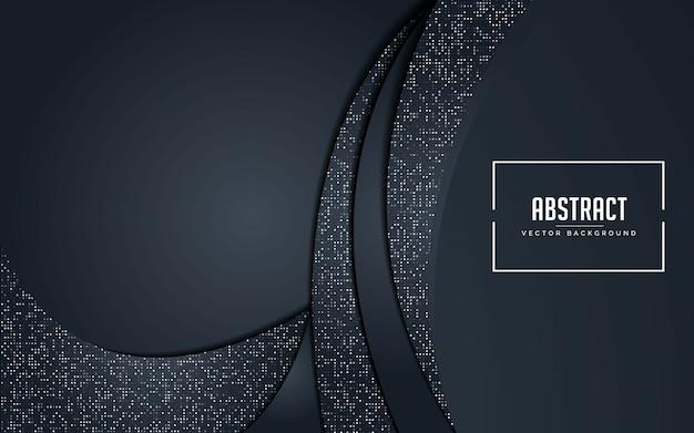 Sfondo astratto nero e grigio con glitter argento