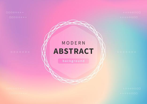 Sfondo astratto olografico moderno. sfondo pastello per la progettazione creativa.